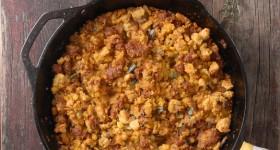 Spicy Chorizo Cornbread Sage Dressing #glutenfree - BoulderLocavore