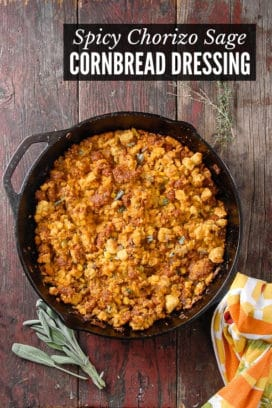 Spicy Chorizo Sage Cornbread Dressing title image