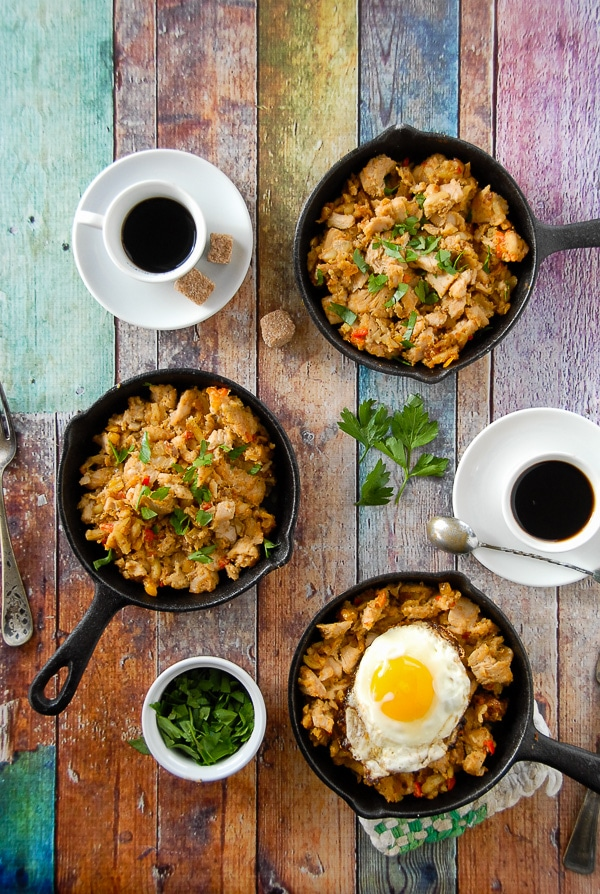 Turkey Holiday Hash (Thanksgiving Leftovers recipe). A savory recipes using turkey, dressing, gravy and fresh ingredients to create a leftovers recipe you'll love. BoulderLocavore.com
