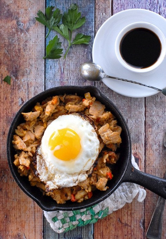 urkey Holiday Hash - a perfect leftovers recipe with fried egg - BoulderLocavore.com