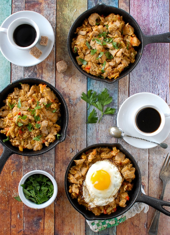 Turkey Holiday Hash - a perfect leftovers recipe with fried egg - BoulderLocavore.com