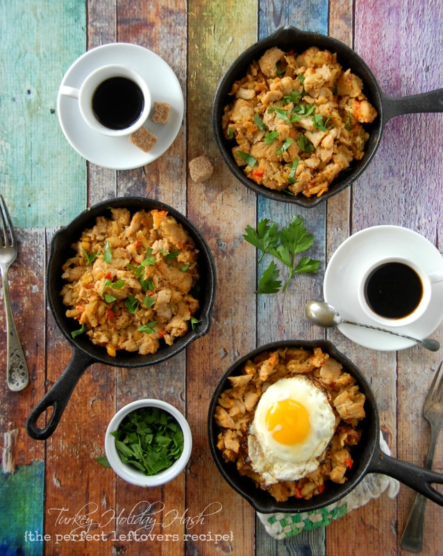 Turkey Holiday Hash with Sunny Side Up Egg - BoulderLocavore.com