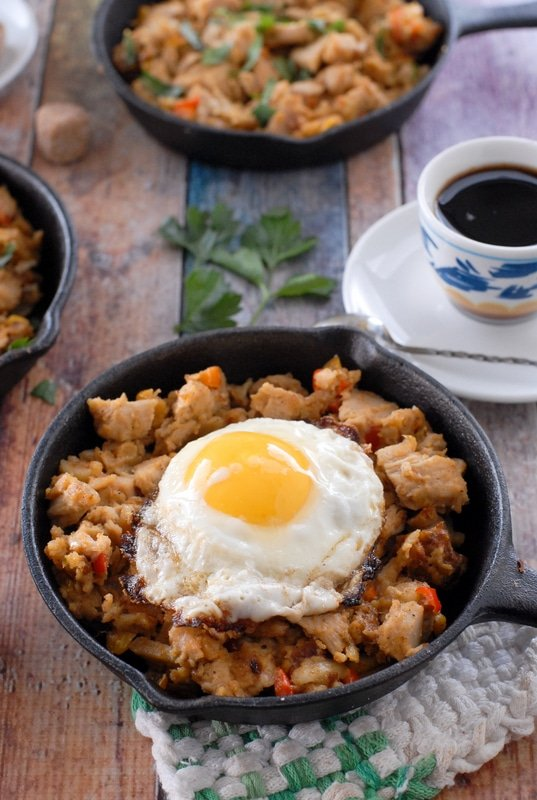 Turkey Holiday Hash with Sunny Side Up Egg