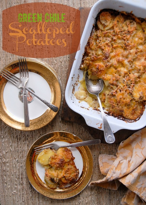 Green Chile Scalloped Potatoes | BoulderLocavore.com