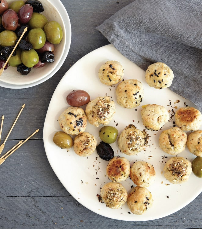 Cheese-Crusted Olives from Winter Cocktails {Quirk Books} | BoulderLocavore.com