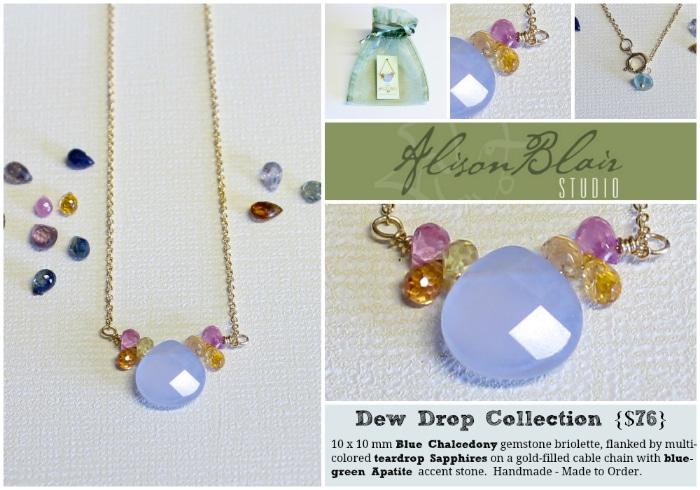 Alison Blair Studio Blue Chalcedony Sapphire Necklace - BoulderLocavore.com