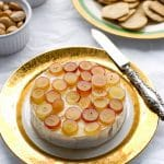 Baked Brie with Pink Champagne Jelly, Red Grapes and Marcona Almonds