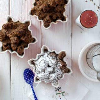Boozy Gingerbread Eggnog Bread Pudding - BoulderLocavore.com