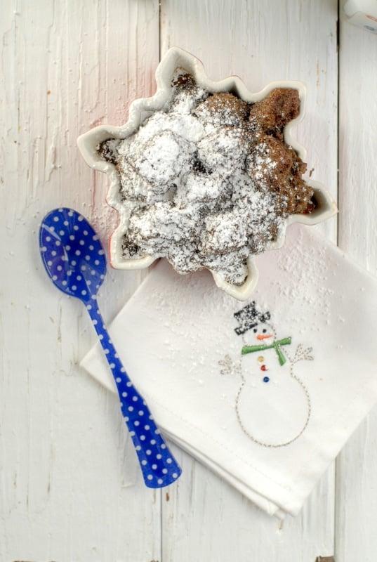 Boozy Gingerbread Eggnog Bread Pudding - BoulderLocavore.com #dessert