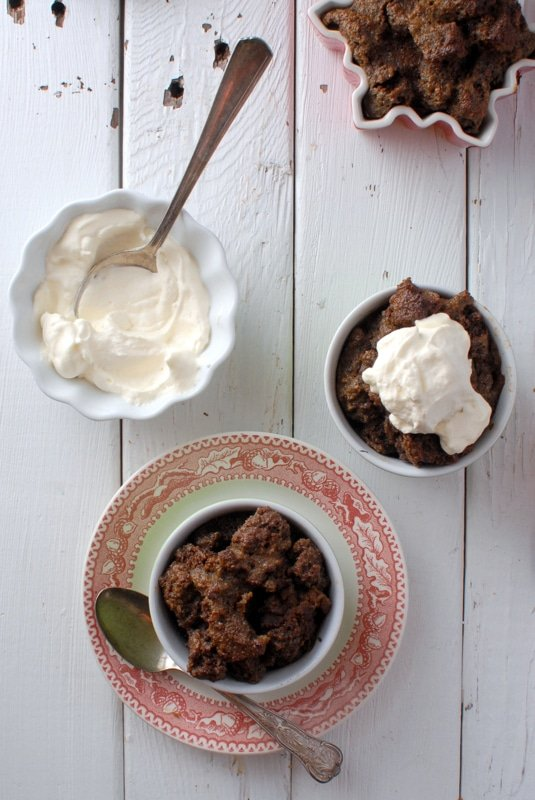 Boozy Gingerbread Eggnog Bread Pudding - BoulderLocavore.com #holidays #recipe