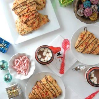 Candy Cane Chocolate Chip Scones #gluten-free | BoulderLocavore.com