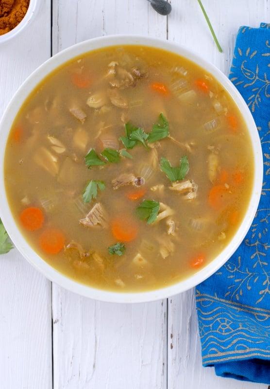 Coconut Curry Turkey Rice Soup | BoulderLocavore.com #glutenfree