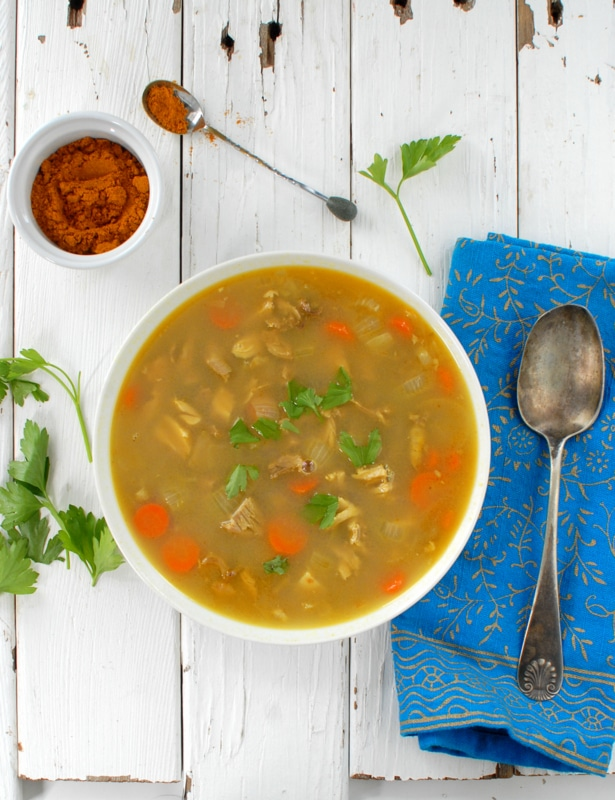 Coconut Curry Turkey Rice Soup - BoulderLocavore.com