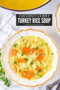 Coconut Curry Turkey Rice Soup title