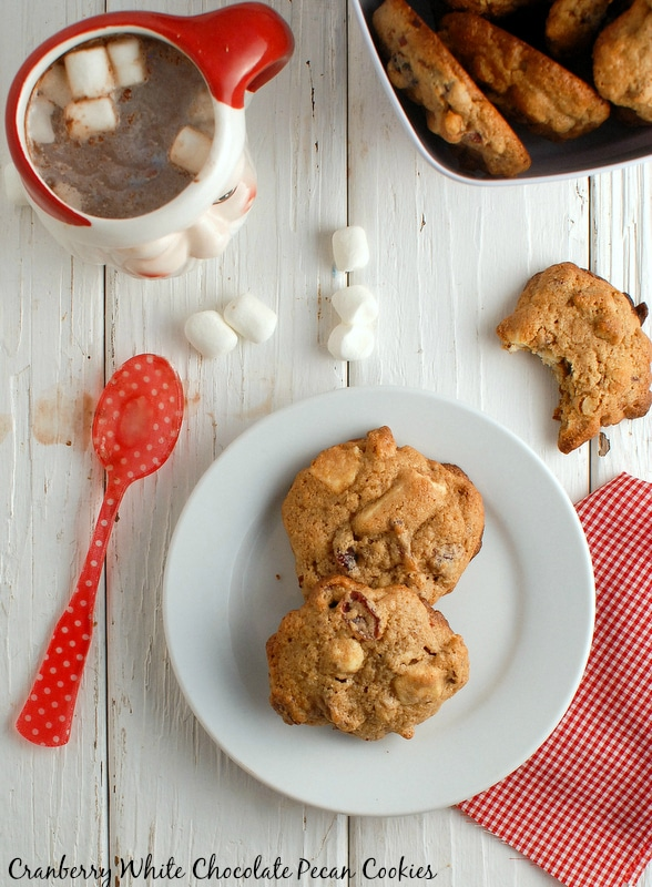 Cranberry White Chocolate Pecan cookies {gluten-free}