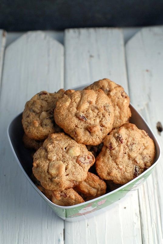 Cranberry White Chocolate Pecan Cookies - BoulderLocavore.com 594-2