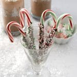Double Mint Chocolate Dipped Candy Canes