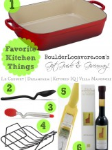 Favorite Kitchen Things Gift Guide and Giveaway BoulderLocavore.com #LeCreuset