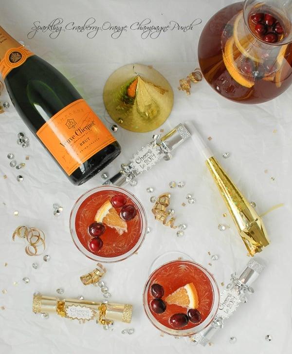 Sparkling Cranberry-Orange Champagne Punch - BoulderLocavore.com #newyears
