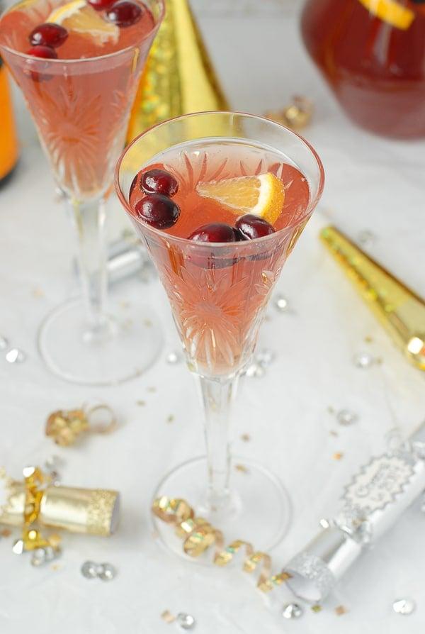 Sparkling Cranberry-Orange Champagne Punch - BoulderLocavore.com
