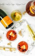 Sparkling Cranberry-Orange Champagne Punch