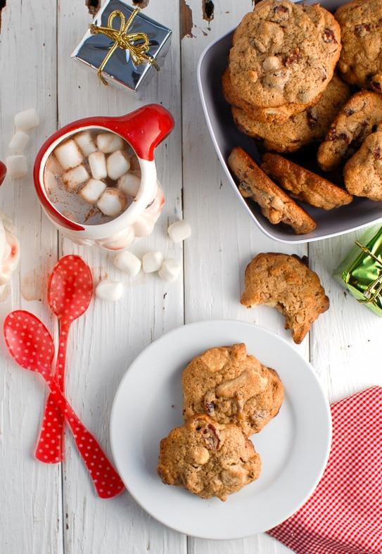 Cranberry White Chocolate Pecan cookies {gluten-free}