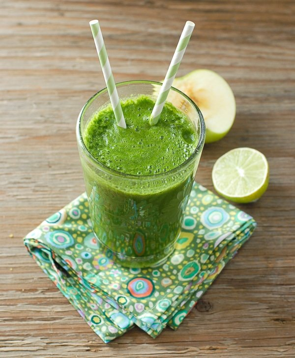 Apple Lime & Leafy Greens Smoothie - BoulderLocavore.com