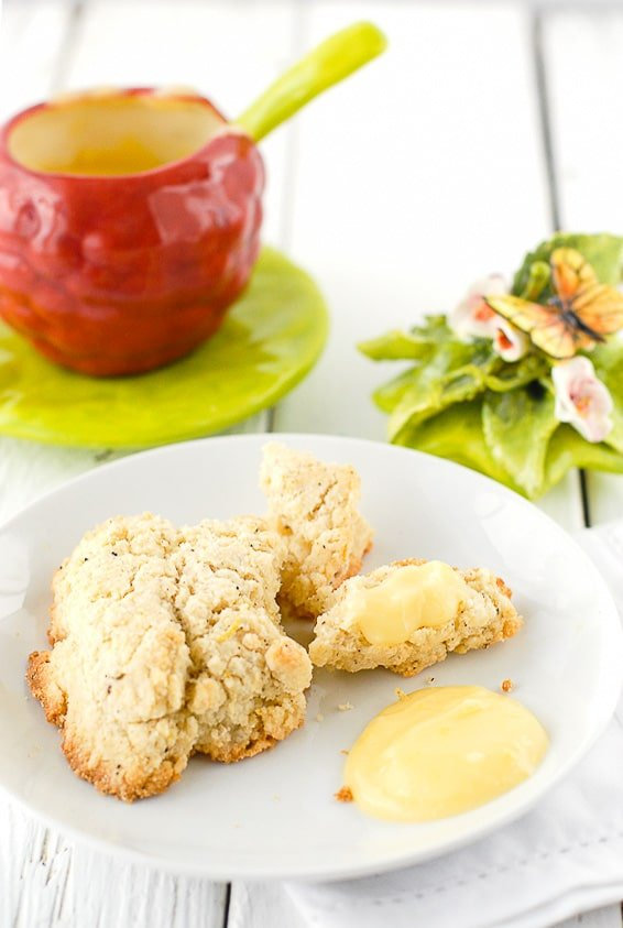 Black Pepper Scones with Grapefruit Curd. A sweet, tangy, spicy way to start any day! - BoulderLocavore.com