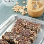 Chocolate Peanut Butter Snack Bars - BoulderLocavore.com #glutenfree