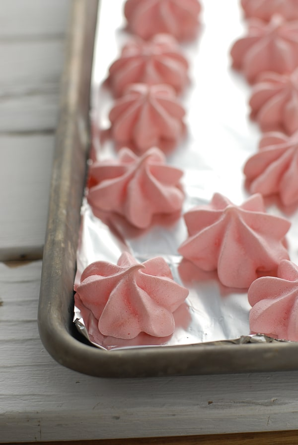 Forget Me Nots rose-flavored meringues batch