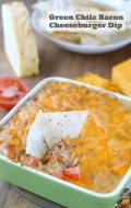 Green Chile Bacon Cheeseburger Dip  - BoulderLocavore.com