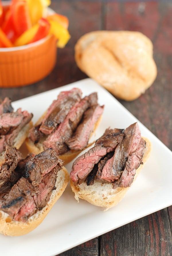 Grilled Skirt Steak Sliders- BoulderLocavore.com