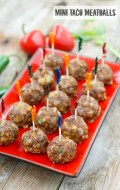 Mini Taco Meatballs {appetizer}
