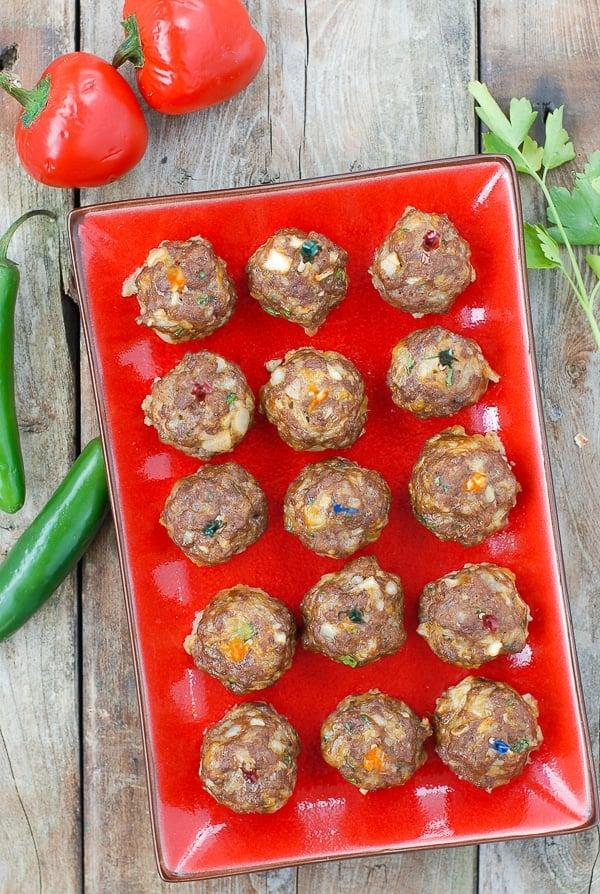 Mini Taco Meatballs {appetizers} - BoulderLocavore.com #glutenfree