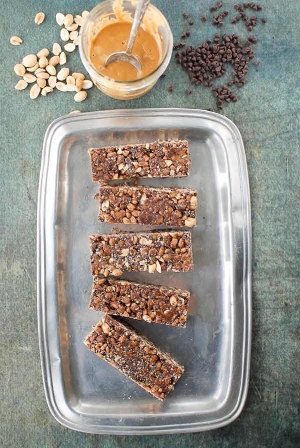 Chocolate Peanut Butter Snack Bars | BoulderLocavore.com