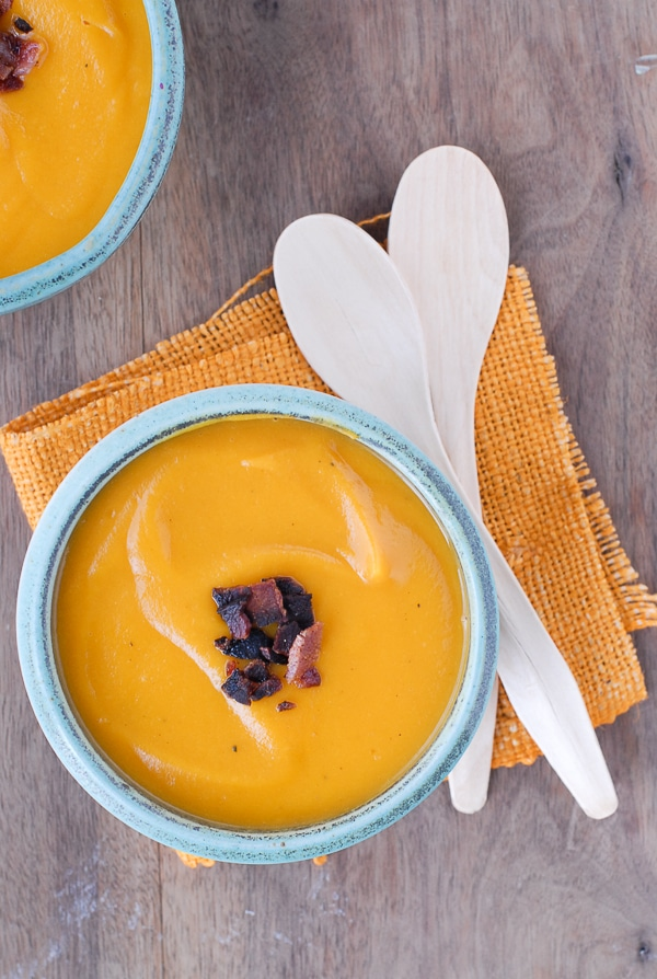 Roasted Sweet Potato Chipotle Soup with Bacon - BoulderLocavore.com