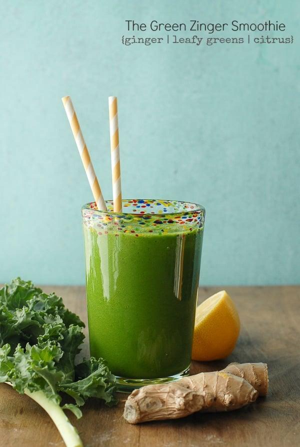 The Green Zinger Smoothie - BoulderLocavore.com #ginger