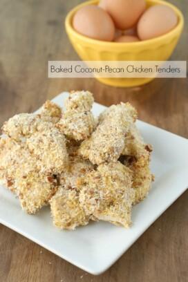 Baked Coconut-Pecan Chicken Tenders