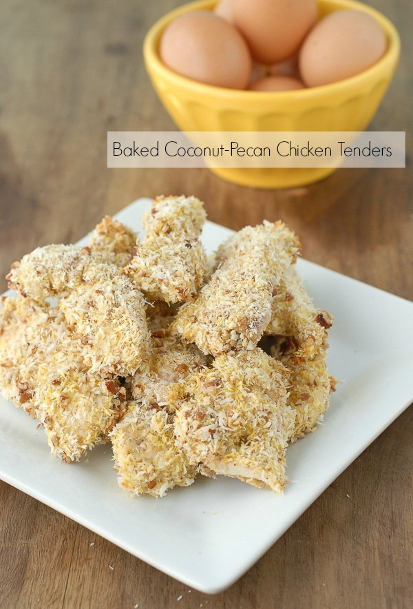 Baked Coconut-Pecan Chicken Tenders {30 Minute Recipes} - BoulderLocavore.com
