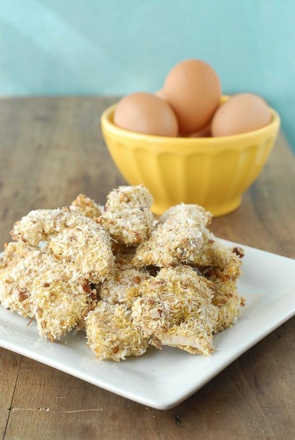Baked Coconut-Pecan Chicken Tenders - BoulderLocavore.com