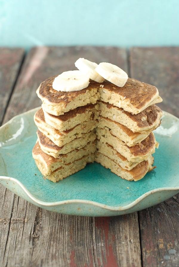 Banana-Macadamia Nut Pancakes with Coconut Syrup - BoulderLocavore.com