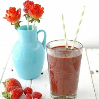 Berry Smoothie and Strawberry Roses