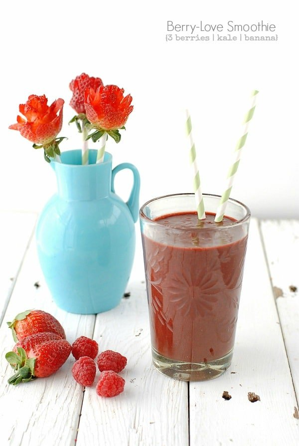Berry-Love Smoothie and Strawberry Roses - BoulderLocavore.com
