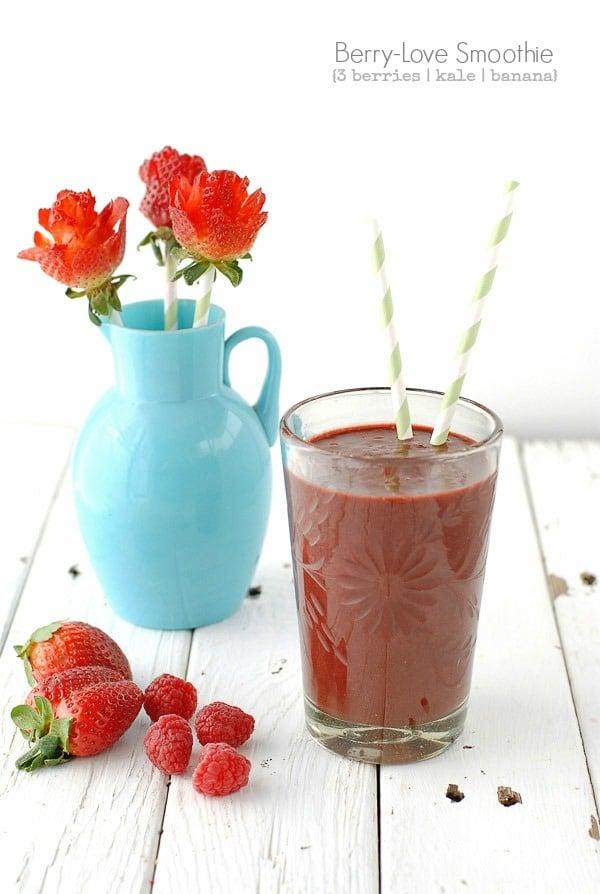 Berry-Love Smoothie and Strawberry Roses - BoulderLocavore.com