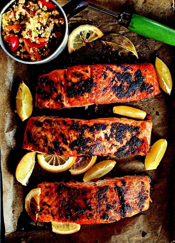 Blackened Cajun Salmon and Citrus Yogurt {Irish Country Cooking} - BoulderLocavore.com