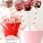 Valentine's Chocolate Marshmallow Pops