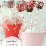 Valentine's Chocolate Marshmallow Pops