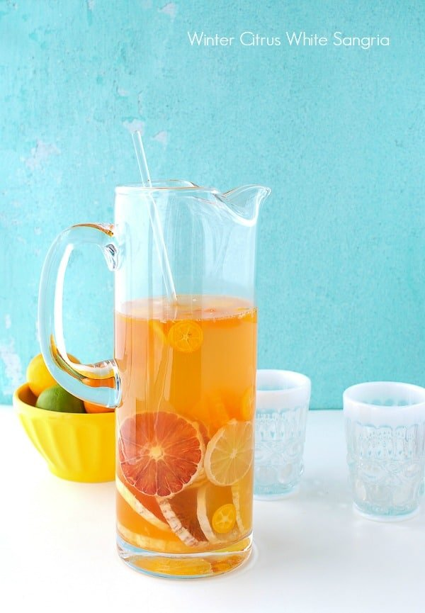 Winter Citrus White Sangria