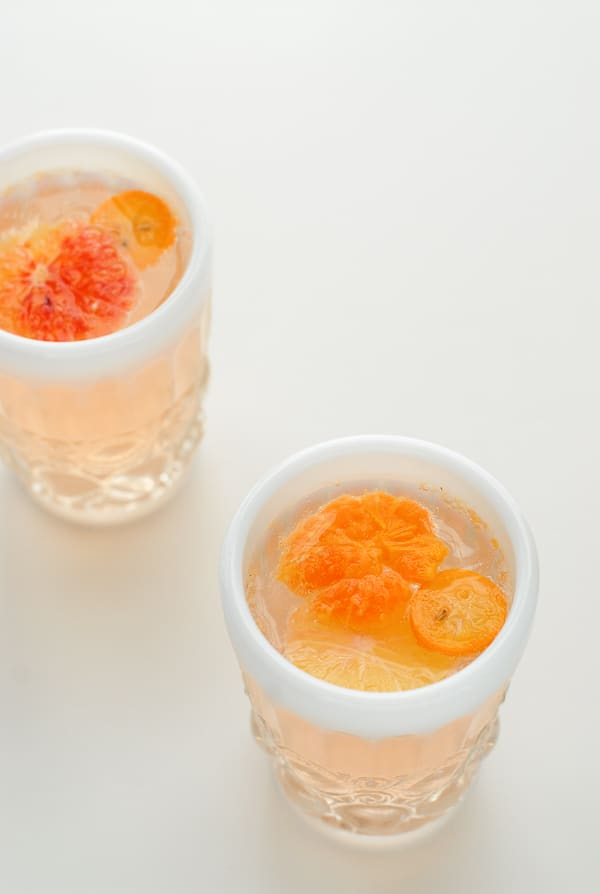 Winter Citrus White Sangria glass  - BoulderLocavore.com