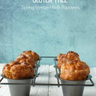 Gluten-Free Spring Lemon-Herb Popovers - BoulderLocavore.com